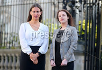 Press Eye - Belfast - Northern Ireland - 20th February 2020. Alliance Party Cllr Sorcha Eastwood pictured outside the High Court in Belfast, with her solicitor Laura Cunningham from Johnsons Solicitors, where she settled her case against the DUPs Graham Craig after he called her a mouthpiece for the Provisional IRA.. See copy by Alan Erwin.   . Picture by Jonathan Porter/PressEye