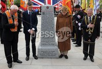 Centenary Covenant Obelisk Unveiling -  Portadown - 30th June 2012. Copyright Presseye.com. Mandatory Credit -  Declan Roughan / Presseye. (L-R) Darryl Hewitt, Lord Craigavon\'s great grandson Max Coleman, grand daughter Aileen Coleman and Robert Wallace.. An unveiling and dedication ceremony took place in Portadown on Saturday. A new 6 foot Centenary Covenant Obelisk was unveilled in the town centre plaza  in the presence of Lord Craigavon\'s grand daughter Aileen Coleman and great grandson Max Coleman. Wreaths were also laid at the second world war monument.