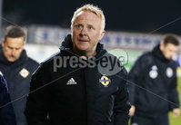 Press Eye - Belfast - Northern Ireland - 18th November 2019. Preparatory Friendly Tournament U19 2019 - Northern Ireland Vs Germany at Mourneview Park in Lurgan.. Northern Ireland coach Stephen Frail. . . Picture by Jonathan Porter/PressEye