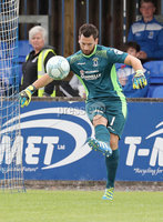 Press Eye - Danske Bank Premiership  - 12th August 2017. Dungannon Swifts v Coleraine. Photograph By Declan Roughan. Dungannon Swifts keeper.