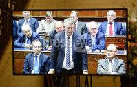 Presseye.com. 21/10/2019. DUP MLA Edwin Poots pictured at Stormont  chamber where local MLAs returned to the chamber to debate laws on abortion and same sex marriage which will change at midnight  tonight .. Mandatory Credit Stephen Hamilton /Presseye