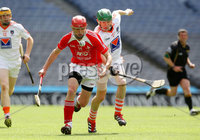 Nickey Rackard Final, Croke Park, Dublin 9/6/2012. Armagh vs Louth. Armagh\'s Conor McKee and Brian Corcoran of Louth. Mandatory Credit ©INPHO/Ryan Byrne