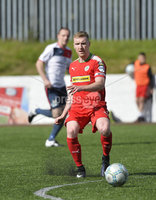 Press Eye Belfast - Northern Ireland 12th August 2017. Danske Bank Irish Premier league match between Cliftonville and Ards at Solitude Belfast.. Chrs Curran Cliftonville.  Photo by Stephen  Hamilton / Press Eye