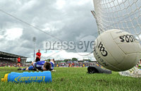 Ulster GAA Football Senior Championship Semi-Final, Morgan Athletic Grounds 24/6/2012. Down vs Monaghan. Down\'s Aidan Carr scores a penalty past Monaghan goalkeeper Mark Keogh. Mandatory Credit ©INPHO/Morgan Treacy