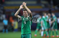 Press Eye - Belfast -  Northern Ireland - 11th June 2019 - Photo by William Cherry/Presseye. Northern Ireland\'s Jonny Evans after defeating Belarus 1-0 during Tuesday nights UEFA EURO 2020 Qualifier at the Borisov Arena, Belarus.      Photo by William Cherry/Presseye