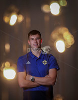 Press Eye - Belfast, Northern Ireland - 08th October 2019 - Photo by William Cherry/Presseye. Northern Ireland\'s Paddy McNair at Tuesday nights press conference in Rotterdam ahead of Wednesday nights UEFA Euro 2020 Qualifier. Photo by William Cherry/Presseye