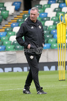 Press Eye - Belfast - Northern Ireland - 8th  September 2019. Northern Ireland train at the National Stadium ahead of their UEFA Euro Qualifier against Germany.. Northern Ireland Manager Michael O\'Neill. Picture by Declan Roughan/PressEye