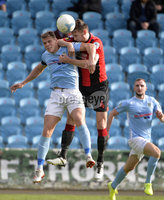 12th October 2019. Danske Bank Irish premiership. Ballymena v Crusaders at Warden Street.. Ballymena\'s Leroy Millar  in action with Crusaders Howard Beverland . Mandatory Credit -Inpho/Stephen Hamilton.