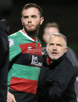 Danske Bank Premiership, The Oval, Belfast   4/10/2019. Glentoran  FC  vs Cliftonville  FC. Glentoran\'s  Darren Murray  shown a red card after being substituted against Cliftonville .. Mandatory Credit  INPHO/Brian Little