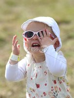 ©Lorcan Doherty Photography - 12th August 2017 . Stendhal Festival 2017. Grace Strathern gets the shades on as the sun comes out at her first festival.. . Photo by Lorcan Doherty / Press Eye..