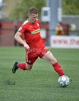 Press Eye Belfast - Northern Ireland 12th August 2017. Danske Bank Irish Premier league match between Cliftonville and Ards at Solitude Belfast.. Cliftonvilles Stephen Garrett.  Photo by Stephen  Hamilton / Press Eye