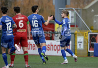 9th January 2021. Danske Bank Premiership, Solitude, Belfast . Cliftonville vs Crusaders. Crusaders Jamie McGonigle celebrates after scoring from the spot . Mandatory Credit INPHO/Stephen Hamilton