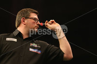 Press Eye - Northern Ireland - 20th April 2017 - Photographer - © Matt Mackey / Presseye.com. Betway Premier League Darts, Night 12, The SSE Arena, Belfast.. Peter Wright v James Wade. James Wade.