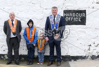 Press Eye - Northern Ireland - 18th April 2017 - Photographer - © Matt Mackey / Presseye.com. (L-R). Sammy Wilson, Charlie Wilson, Carson Bradshaw and Stuart Bradshaw enjoy their day out in Donaghadee.. The Junior Orange Association of Ireland hold its annual Easter Tuesday demonstration in Donaghadee. . The main parade, organised by Belfast Junior County Lodge, left the Harbour Road car park and proceed through the town centre to Crommelin Park playing fields. .  . Senior officers and juniors representing three Belfast Districts, Donaghadee, and a number of other lodges from across Northern Ireland - accompanied by eight bands participated.