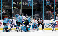 Press Eye - Belfast -  Northern Ireland -16th November 2019 - Photo by Darren Kidd/Presseye . Belfast Giants with Dundee Stars during Saturday nights Elite Ice Hockey League game at the SSE Arena, Belfast.    Photo by Darren Kidd/Presseye