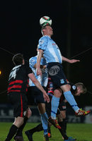 Picture credit © Matt Mackey - Presseye.com . Belfast - Northern Ireland - 12th February 2016.            . Danske Bank Premiership Ballymena United v Coleraine at the Showgrounds Ballymena.. Ballymena\'s Allan Jenkins in action with Coleraine.