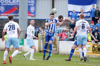 Danske Bank Premiership, The Ballymena Showgrounds, Co. Antrim 14/4/2018 . Coleraine vs Ballymena United.. Coleraine\'s  Stephen O\'Donnell has a header in the Ballymena box. . Mandatory Credit ©INPHO/Jonathan Porter