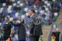Press Eye - Belfast - Northern Ireland -14th July. Photo by Stephen Hamilton  / Press Eye.. Champions league qualifying match first leg between Linfield and Celtic at Windsor park in Belfast..  Celtics manager Brendan Rogers.