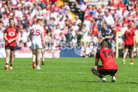 PressEye - Belfast - Northern Ireland - 16th July 2017. Ulster Senior Football Championship Final. Down v Tyrone. Pictured: Down\'s Connaire Harrison looks on as Tyrone clinched the Ulster Championship.. Picture: Philip Magowan / PressEye