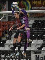 Press Eye - Northern Ireland -12th February 2016. Photograph:Presseye /Stephen Hamilton. Danske Bank Irish premier league match betweeen Crusaders and Glenavon at Seaview Belfast.. Crusaders Mathew Snoddy  in action with Glenavons Johnny Tuffey