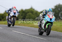 PressEye-Northern Ireland- 12th  August   2017-Picture by Brian Little/ PressEye. Dean Harrison Silcone Engineering Kawasaki and  Dan Kneen Tyco BMW      at the Deers Leap  during  the Lisburn & Castlereagh City Council Superstock Race  at the MCE Insurance Ulster Grand Prix, around the 7.4  mile Dundrod Circuit . Picture by Brian Little/PressEye