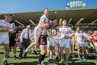 Ulster GAA Senior Football Championship Final, St Tiernach\'s Park, Clones, Co. Monaghan 16/7/2017. Down vs Tyrone. Tyrone players celebrate the final whistle. Mandatory Credit ©INPHO/Morgan Treacy