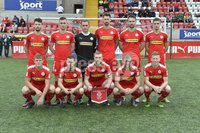 Press Eye - Belfast - Northern Ireland -15th July. Photo by Stephen Hamilton  / Press Eye.. Pre season friendly match between Cliftonville and Swansea u23 at Solitude in Belfast.. Cliftonville FC