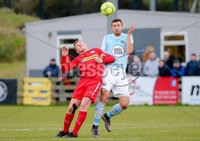 Danske Bank Premiership, Milltown Playing Fields, Newry 2/12/2017 . Warrenpoint Town vs Cliftonville.  Warrenpoint\'s Stephen Murray and Cliftonville\'s Levi Ives. Mandatory Credit ©INPHO/Philip Magowan