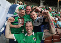 Press Eye - Belfast -  Northern Ireland - 11th June 2019 - Photo by William Cherry/Presseye. Northern Ireland fans during Tuesday nights UEFA EURO 2020 Qualifier against Belarus at the Borisov Arena, Belarus.      Photo by William Cherry/Presseye