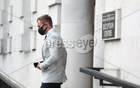 Press Eye - Belfast - Northern Ireland - 15th September 2020 . Carl Frampton as he heads into a High Court showdown with Barry McGuigan in Belfast.. Mr Frampton, 32, is suing Mr McGuigan, his wife Sandra McGuigan and Cyclone Promotions (UK) Ltd, claiming a failure to pay purse money from his bouts.. Photo by Matt Mackey / Press Eye.