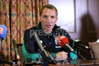 Press Eye - Belfast - Northern Ireland  - 13th July 2017 - . Celtic FC Manager Brendan Rodgers at a press conference at the Culloden Hotel in Belfast ahead of their game with Linfield.. Photo by Kelvin Boyes / Press Eye..