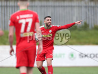 Danske Bank Premiership, Solitude, Belfast 14/4/2018 . Clliftonville vs Glenavon. Clliftonville\'s Joe. Gormley scores his teams first goal . Mandatory Credit ©INPHO/Matt Mackey