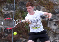 Press Eye Belfast - Northern Ireland 14th July 2017. Co. Antrim Tennis semi-finals at Ballycastle Tenni sClub.. Ronan Mckeever. Picture by Jonathan Porter/PressEye.com.