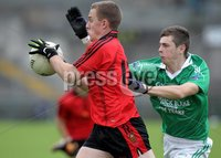 Presseye Northern Ireland - 03rd June 2012 Mandatory Credit - Photo-William Cherry/Presseye. Fermanagh\'s  Shane O Hara with Down\'s Jack Haughey during Sundays Ulster GAA Football Minor Championship Quarter Final at Brewster Park, Enniskillen.