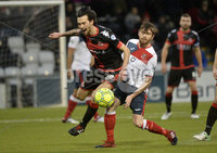 . Danske Bank Premiership, Seaview, Belfast 13/1/2018. Crusaders vs Ards. Crusaders Declan Caddell  in action with Ards Craig McMillen. Mandatory Credit ©INPHO/Stephen Hamilton