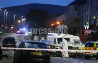 Press Eye - Belfast - Northern Ireland - 4th December 2018. The scene on the Glen Road in west Belfast where a shooting incident took place on Tuesday afternoon. . . Picture by Jonathan Porter/PressEye