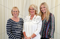 2 September 15 -   Picture by Darren Kidd / Press Eye.. Hillsborough Oyster Festival 2015:. Oyster Festival Musical Evening: The Ulster Youth Orchestra performing for the first time at Hillsborough International Oyster Festival along with the Portadown Male Voice Choir and soloist Zoe Jackson.. Pictured are Eileen Sherrard, Angela Woods and Emma McGonigle