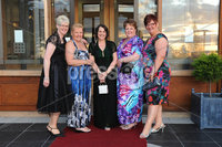 ©Press Eye Ltd Northern Ireland - 28th April 2012. Perfect Day 10th Anniversary at the Seagoe Hotel Portadown.. Jayne Bones,Elsie Johnston,Stephanie Cheshire,Kaye Cheshire,Marion Sefton. Mandatory Credit - Picture by Stephen Hamilton /Presseye.com. .