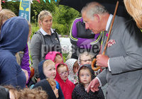 Press Eye - Belfast - Northern Ireland - 13th June 2018. As part of a two day visit to Northern Ireland Prince Charles and Camilla visited Owenkillew Community Centre, an established community facility based in the village of Gortin, Co Tyrone.  It opened in 1999 funded by Millennial Halls Grant and comprises a multi-use sports hall, meeting room, gym & playgroup with a Men's Shed being added in 2016.  It is set on a 7 acre site which also comprises a 55 bed hostel, 4 town houses, an outdoor Activity Centre, community garden, MUGA, footgolf course and is a key link for the village.. . . Picture by Jonathan Porter/PressEye
