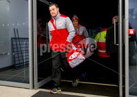 European Rugby Champions Cup Round 4, Kingspan Stadium, Belfast 15/12/2017. Ulster vs Harlequins. Ulster\'s Rob Herring arrives. Mandatory Credit ©INPHO/Bryan Keane