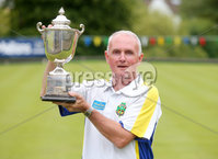 Press Eye Belfast - Northern Ireland 14th July 2017. Bangor Open Bowls Competition at Bangor Bowling Club. . Robert Hastings from Bangor Bowling Club who won the Men\'s Singles competition and overall player of the tournament. (He is pictured with singles trophy). Picture by Jonathan Porter/PressEye.com.