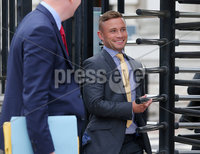 Press Eye Belfast - Northern Ireland 11th September 2018. Boxer Carl Frampton leaves the High Court in Belfast where he was attending a review regarding his legal case against former manager Barry McGuigan.  . Picture by Jonathan Porter/PressEye.com