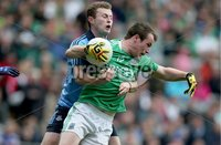GAA Football All Ireland Senior Championship Quarter-Final, Croke Park, Dublin 2/8/2015. Dublin vs Fermanagh. Dublin\'s Jack McCaffrey with Ruairi Corrigan of Fermanagh. Mandatory Credit ©INPHO/Donall Farmer