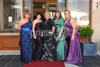 ©Press Eye Ltd Northern Ireland - 28th April 2012. Perfect Day 10th Anniversary at the Seagoe Hotel Portadown.. Lisa Thompson, Graine McKee,Bernie ONeill, Jenny Payne,Sinead ONeill. Mandatory Credit - Picture by Stephen Hamilton /Presseye.com. .