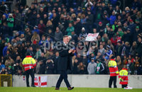 Press Eye - Belfast - Northern Ireland - 16th November 2019. UEFA EURO 2020 Qualifier Group C.  Northern Ireland Vs Netherlands at the National Stadium at Windsor Park, Belfast. . Northern Ireland manager Michael ONeill, who has managed his last home game at Windsor Park, pictured after the game finished 0-0.. . Picture by Jonathan Porter/PressEye
