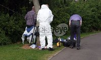 Press Eye © Belfast - Northern Ireland. Photo by Freddie Parkinson / Press Eye ©. Tuesday 16th May 2017. People\'s Park, Portadown.. Searches are on going at the People\'s Park, Park Street, Portadown.. PSNI and Naval search teams are currently working on the Corcrain River as they carry out investigations. .