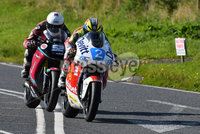 Mandatory Credit: Rowland White / PressEye. ULSTER GRAND PRIX. Venue: Dundrod. Date: 12th August 2017. Class: SUPERTWIN RACE. Caption: Ivan Lintin disputing the lead with James Cowton