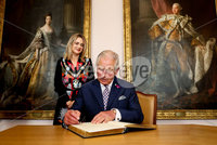 Press Eye - Belfast -  Northern Ireland - 22nd May 2019 - Photo by William Cherry/Presseye. . The Prince of Wales is pictured signing the visitors book at the Palace Demesne, Armagh during his 2 day visit to Northern Ireland. .