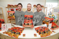 Press Eye - Belfast - Northern Ireland - 15th May 2019. First day of the Balmoral Show, in partnership with Ulster Bank.  Pictured at Balmoral Park, outside Lisburn, are(L-R) Andy Laverty, David Knowles and Jonny Laverty with their sweet potato crisps business Wolf and Woodsman.  Ulster Bank has provided space in its market at Balmoral Show to entrepreneurs from Ulster Bank\'s Entrepreneur Accelerator programme as well as small business customers. . . Picture by Jonathan Porter/PressEye. .