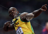 Presseye Northern Ireland - 05th August 2012 Mandatory Credit - Photo-William Cherry/Presseye. London 2012 Olympic Games - Athletics. Usain Bolt wins the final of the Olympic 100m in the on Sunday night during the 2012 London Olympic Games.
